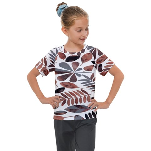 Shiny Leafs Kids  Mesh Piece Tee by Sparkle