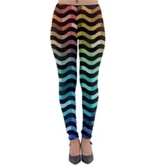 Digital Waves Lightweight Velour Leggings by Sparkle