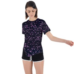 Digital Polka Asymmetrical Short Sleeve Sports Tee by Sparkle