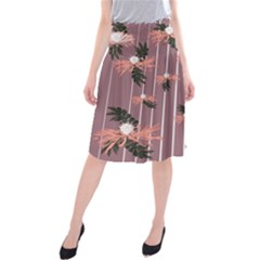 Flowers #2 Midi Beach Skirt
