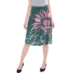 Single Flower #2 Midi Beach Skirt