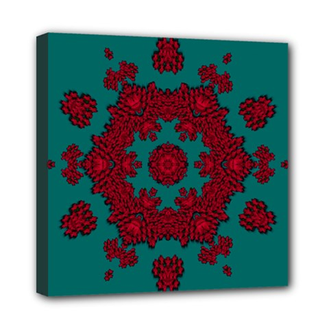 Cherry-blossom Mandala Of Sakura Branches Mini Canvas 8  X 8  (stretched) by pepitasart