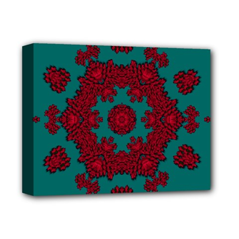 Cherry-blossom Mandala Of Sakura Branches Deluxe Canvas 14  X 11  (stretched) by pepitasart