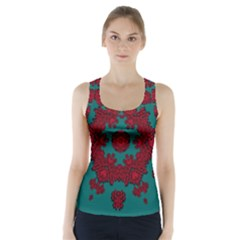 Cherry-blossom Mandala Of Sakura Branches Racer Back Sports Top by pepitasart