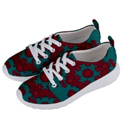 Cherry-blossom Mandala Of Sakura Branches Women s Lightweight Sports Shoes by pepitasart