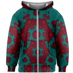 Cherry-blossom Mandala Of Sakura Branches Kids  Zipper Hoodie Without Drawstring by pepitasart