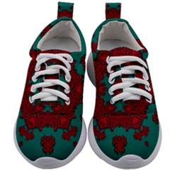 Cherry-blossom Mandala Of Sakura Branches Kids Athletic Shoes by pepitasart