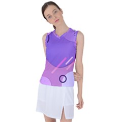 Colorful-abstract-wallpaper-theme Women s Sleeveless Sports Top