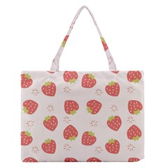 Strawberries-pattern-design Zipper Medium Tote Bag by Vaneshart