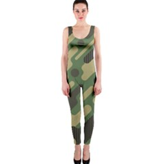 Camouflage-pattern-background One Piece Catsuit