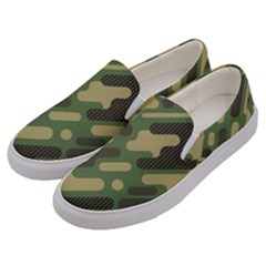 Camouflage-pattern-background Men s Canvas Slip Ons by Vaneshart