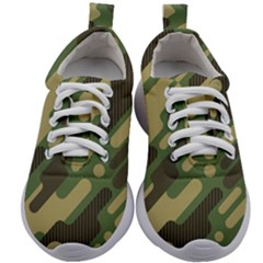 Camouflage-pattern-background Kids Athletic Shoes