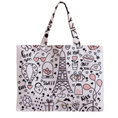 Big-collection-with-hand-drawn-objects-valentines-day Zipper Mini Tote Bag