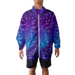 Realistic-night-sky-poster-with-constellations Kids  Windbreaker