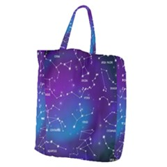 Realistic-night-sky-poster-with-constellations Giant Grocery Tote