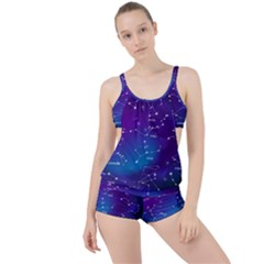 Realistic-night-sky-poster-with-constellations Boyleg Tankini Set  by Vaneshart