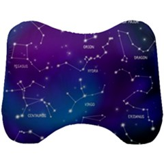 Realistic-night-sky-poster-with-constellations Head Support Cushion by Vaneshart