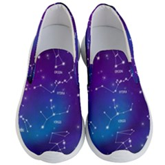 Realistic-night-sky-poster-with-constellations Men s Lightweight Slip Ons by Vaneshart