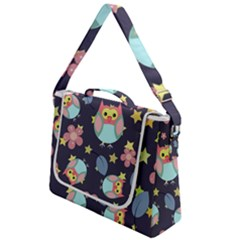 Owl Stars Pattern Background Box Up Messenger Bag