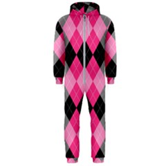 Seamless-argyle-pattern Hooded Jumpsuit (men)  by Vaneshart