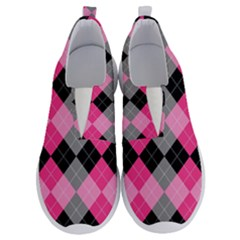 Seamless-argyle-pattern No Lace Lightweight Shoes