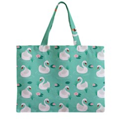 Elegant-swan-seamless-pattern Zipper Mini Tote Bag