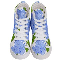 Botanical Floral Print Stylized Photo Women s Hi-top Skate Sneakers