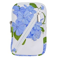 Botanical Floral Print Stylized Photo Belt Pouch Bag (small)