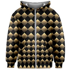 Golden-chess-board-background Kids  Zipper Hoodie Without Drawstring by Vaneshart