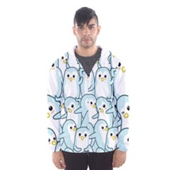 Penguins Pattern Men s Hooded Windbreaker by Vaneshart