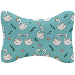 Elegant-swan-pattern-design Seat Head Rest Cushion