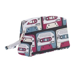 Music Symbols Rock Music Seamless Pattern Wristlet Pouch Bag (medium)