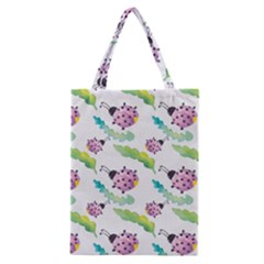 Watercolor Pattern With Lady Bug Classic Tote Bag by Vaneshart