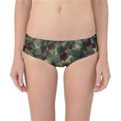 Abstract Vector Military Camouflage Background Classic Bikini Bottoms