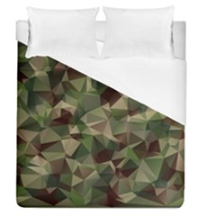 Abstract Vector Military Camouflage Background Duvet Cover (queen Size)
