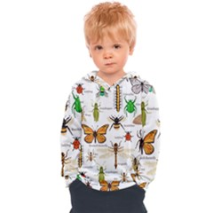 Insects Seamless Pattern Kids  Overhead Hoodie