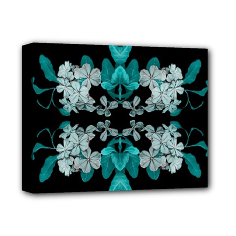Fantasy Floral Ornate Artwork Deluxe Canvas 14  X 11  (stretched) by dflcprintsclothing