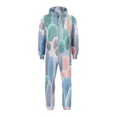 Abstract-seamless-pattern-with-winter-forest-background Hooded Jumpsuit (kids)
