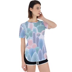 Abstract-seamless-pattern-with-winter-forest-background Perpetual Short Sleeve T-shirt