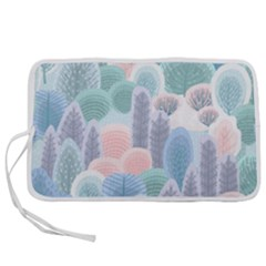Abstract-seamless-pattern-with-winter-forest-background Pen Storage Case (s)