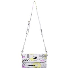 Graphic Design Geometric Background Mini Crossbody Handbag