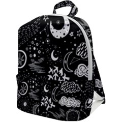 Vector-set-sketch-drawn-with-space Zip Up Backpack