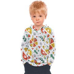 Seamless-hipster-pattern-with-watermelons-mint-geometric-figures Kids  Overhead Hoodie