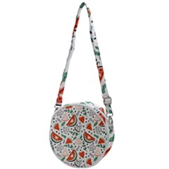 Seamless-vector-pattern-with-watermelons-mint Crossbody Circle Bag