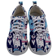 Dogs-seamless-pattern Mens Athletic Shoes