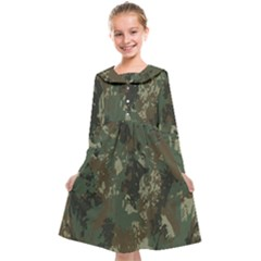 Camouflage-splatters-background Kids  Midi Sailor Dress
