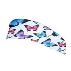 Decorative-festive-trendy-colorful-butterflies-seamless-pattern-vector-illustration Stretchable Headband by Vaneshart