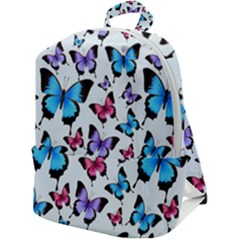 Decorative-festive-trendy-colorful-butterflies-seamless-pattern-vector-illustration Zip Up Backpack