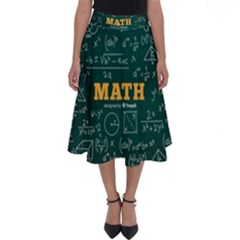 Realistic-math-chalkboard-background Perfect Length Midi Skirt