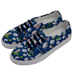 Isometric-seamless-pattern-megapolis Men s Classic Low Top Sneakers by Vaneshart